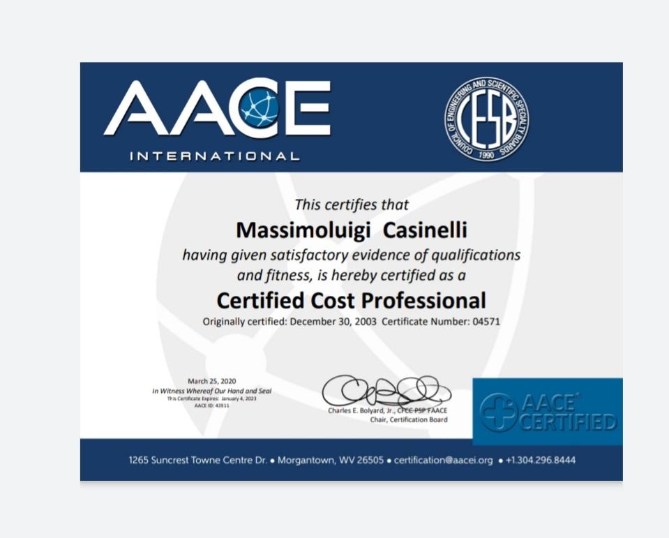 ccp certificate casinelli certified cost professional certficate secured digiprove copyright